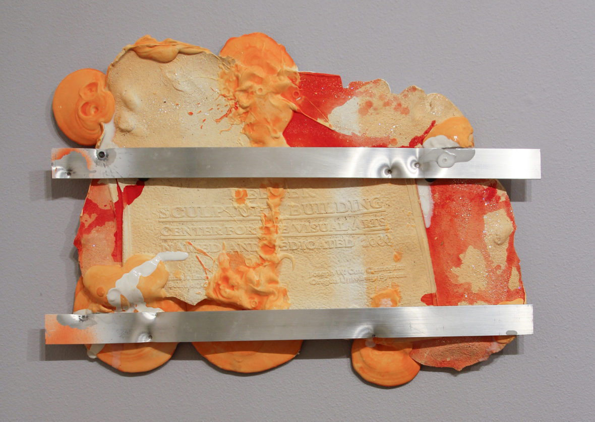 "Ryan Kitson ""DeBoer Plaque Divided Orange"" at the Schneider Museum of Art at Southern Oregon University"