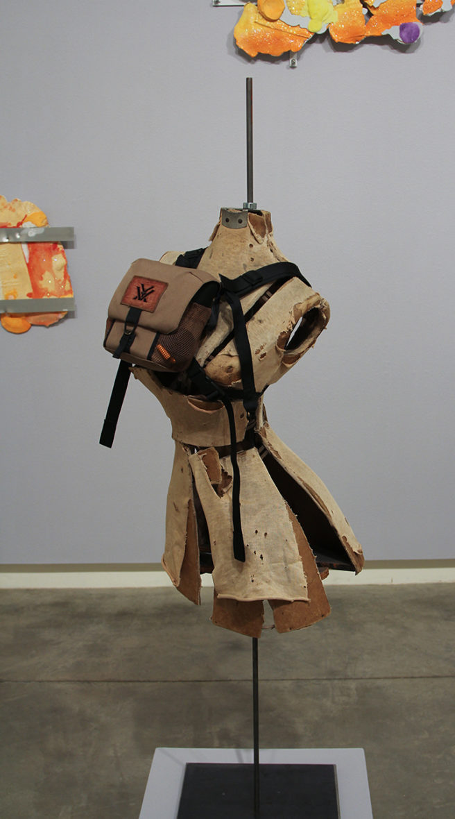 "Ryan Kitson ""Dress Form with Knocker Harness"" at the Schneider Museum of Art at Southern Oregon University"