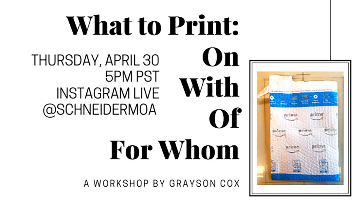 What To Print: On With Of For Whom