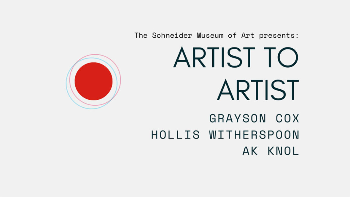 Artist to Artist: Grayson Cox, Hollis Witherspoon & AK Knol (VIDEO)