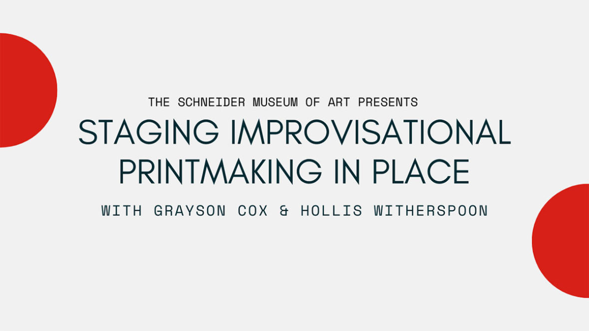 Staging Improvisational Printmaking in Place (VIDEO)